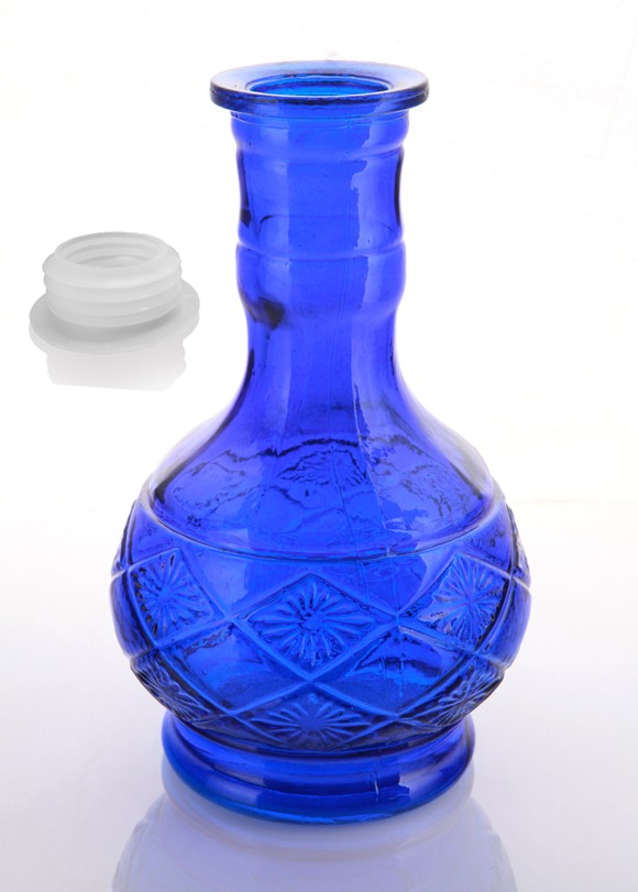 Blue Tank Hookah vase