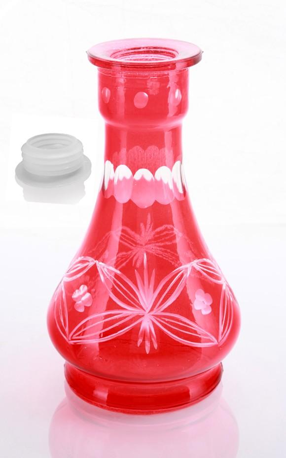 Red Flora Hookah vase