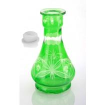 Green Flora Hookah vase