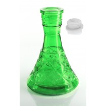 Green Pyramid Hookah vase